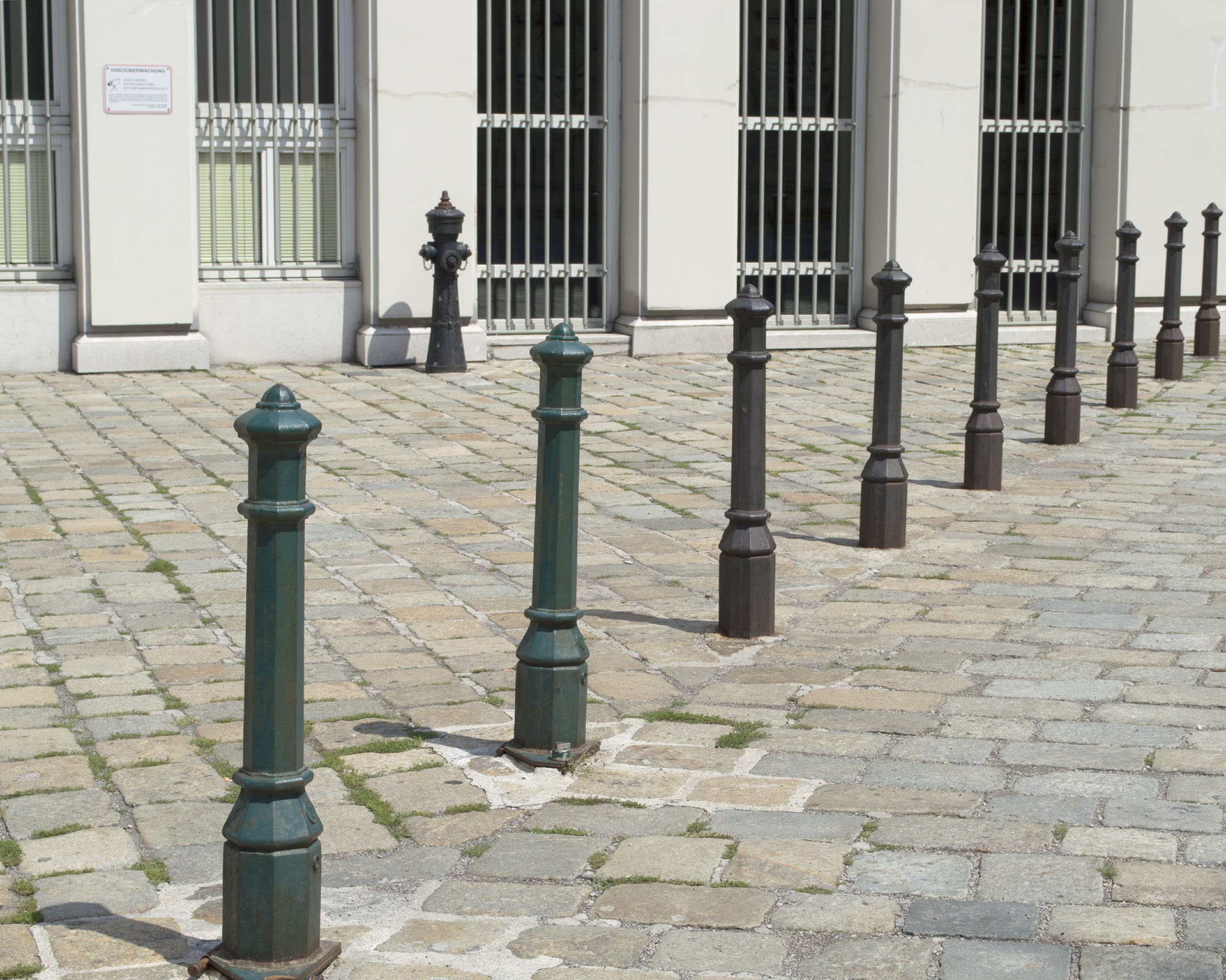 """""""Viennese Hydrant and Bollards"""" by Ana Lopez"""