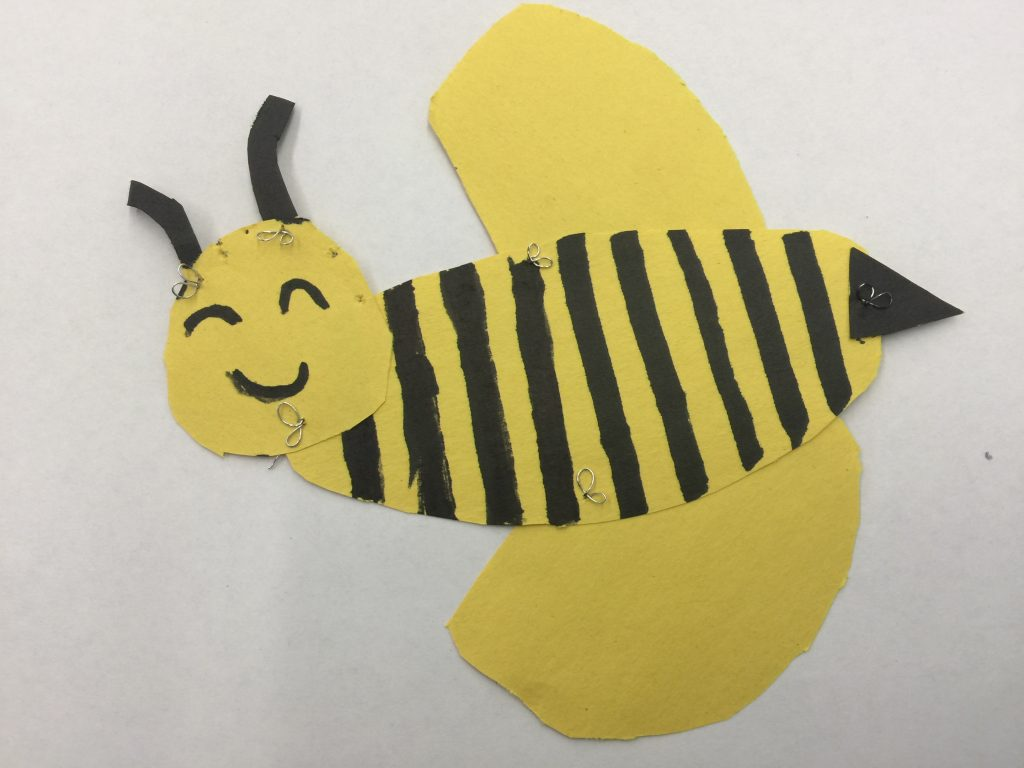 construction paper bee collage